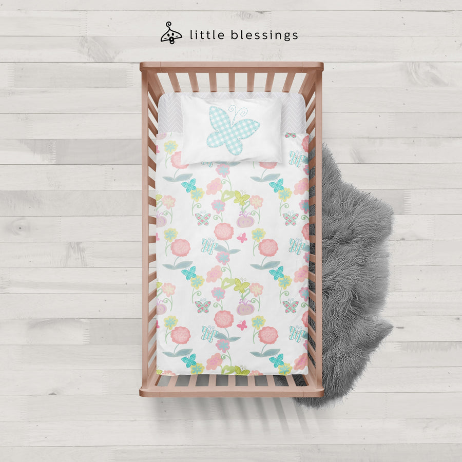 Flowers & Butterflies Baby Bed Set