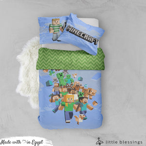 Minecraft Bed Set (Blue)