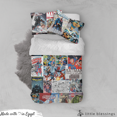 Comic Books Bed Set