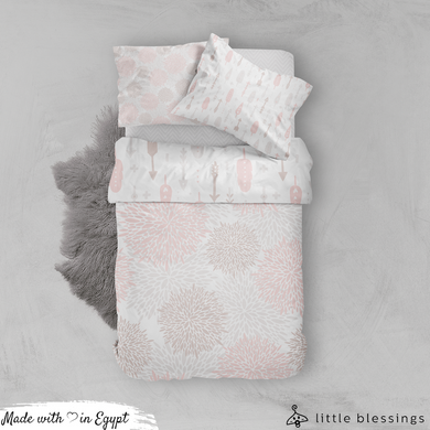 Pink Feathers Bed Set