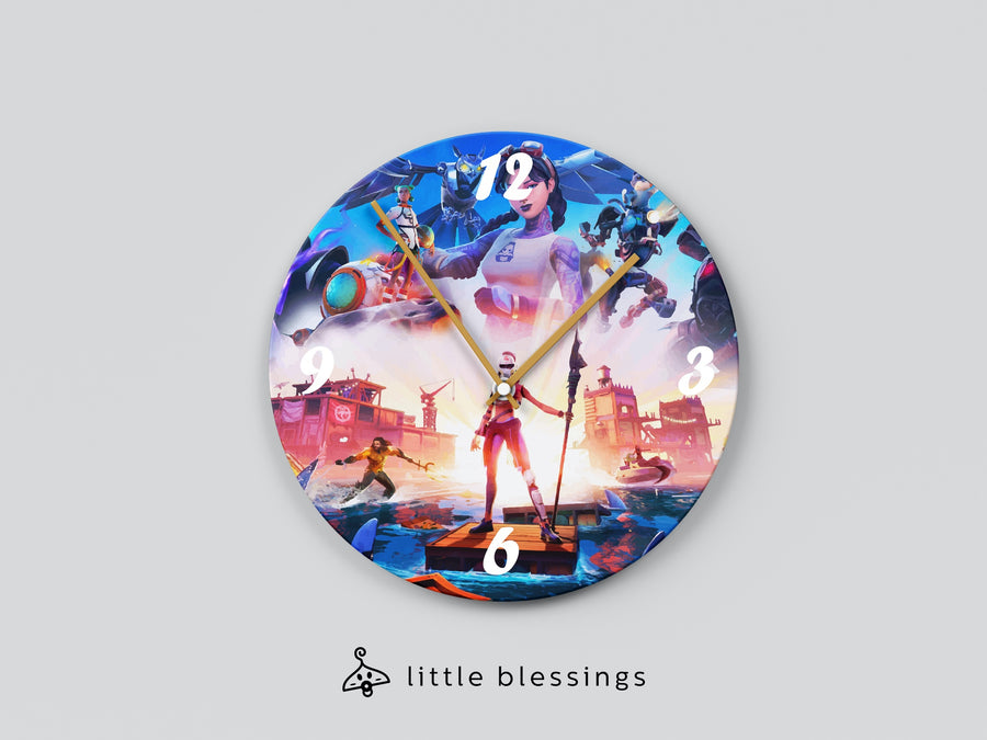 Fortnite New Chapter Wall Clock