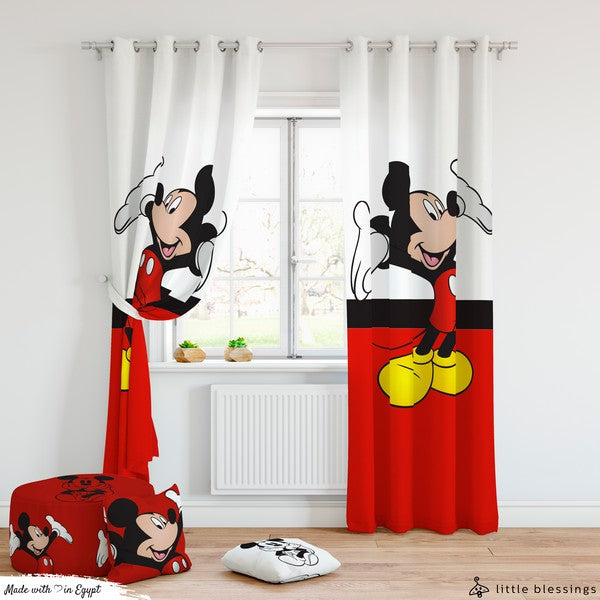 Mickey Mouse Room Curtains