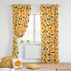 Halloween Pumpkin Room Curtains & Puffs