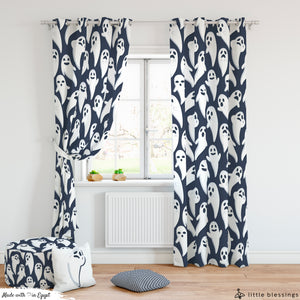 Halloween 'Ghosts' Room Curtains & Puffs