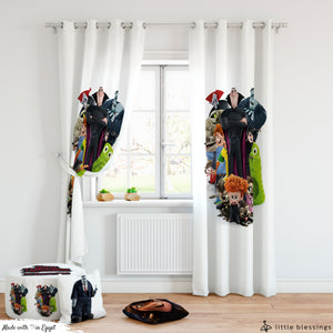 Hotel Transylvania Room Curtains & Puffs