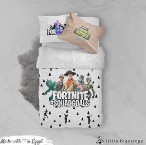 Fortnite SquadGoals Bed Set