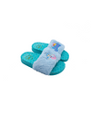 Mermaid Baby Blue Fur Slide For Girls