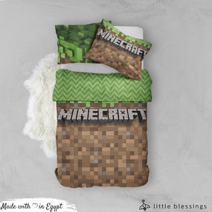 Minecraft Bed Set (Green & Brown)