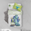 Smiling Monsters Inc Bed Set