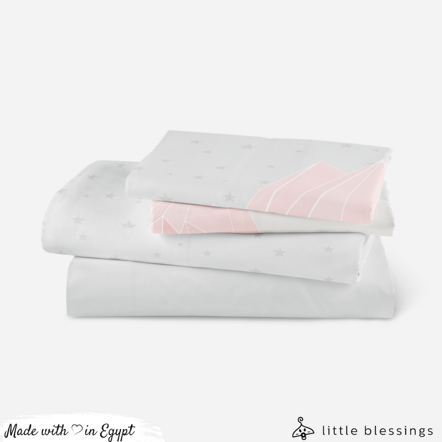 Pink Mountains Bed Set