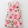 Rose Flowers Print ,Sleeveless Baby Girl Dress!