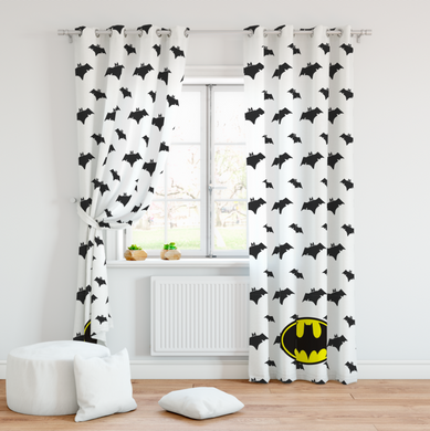 Batman Room Curtains (White)
