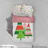 Geometric Christmas Tree Bed Set