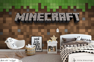 Minecraft Wallpaper (Green & Brown)