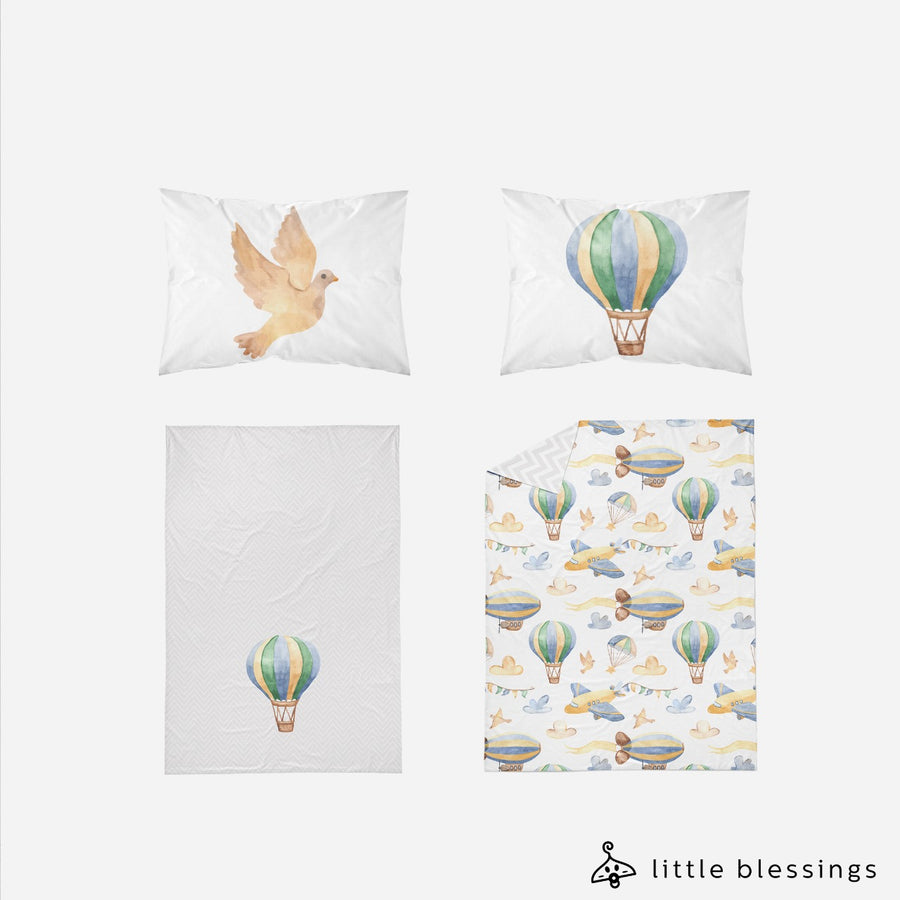 Air ballon and Planes Bed Set
