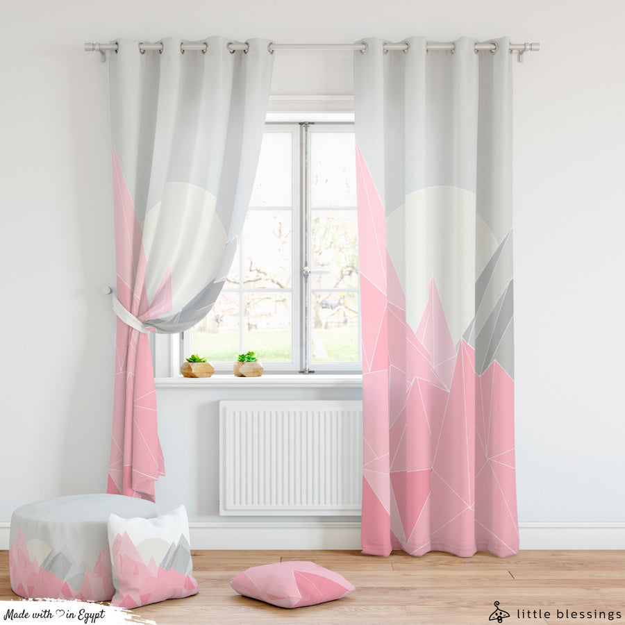 Pink Mountains Curtain
