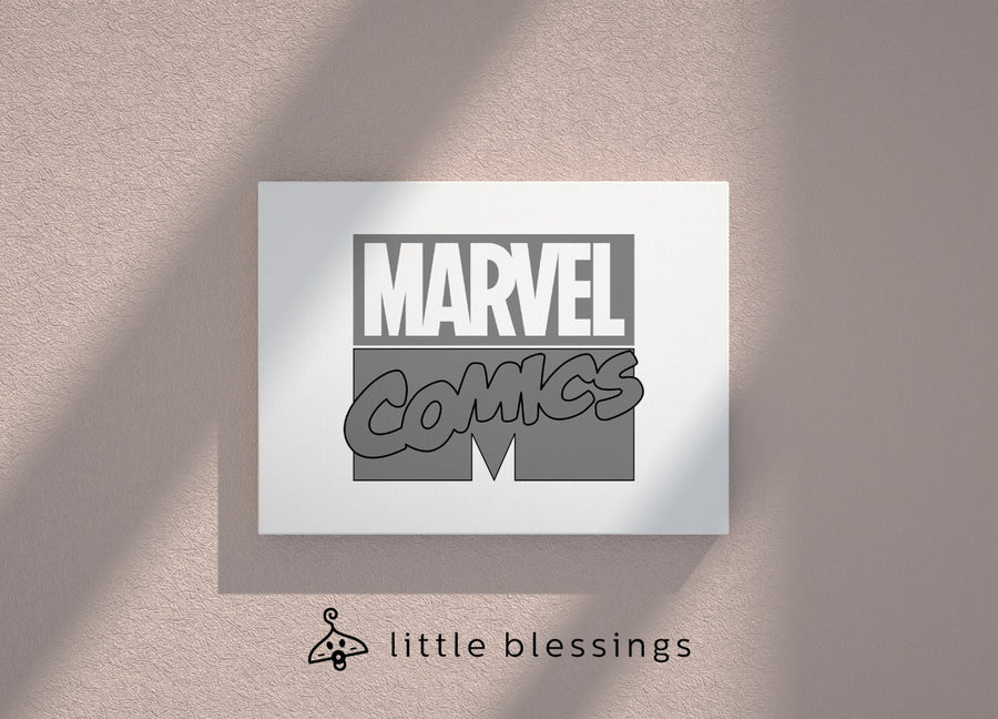 Black And White Marvel Canvas (Marvel Comics)