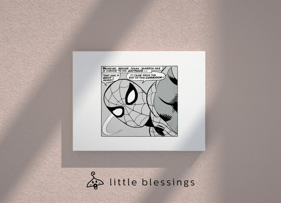 Black And White Marvel Canvas (Spiderman)