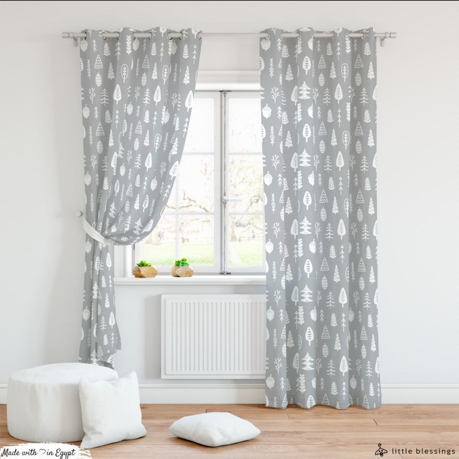 Modern Mountains Curtain