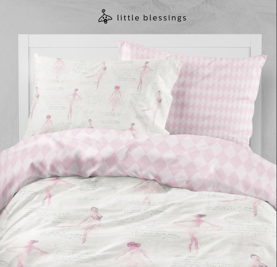 Pink Ballerina Bed Set