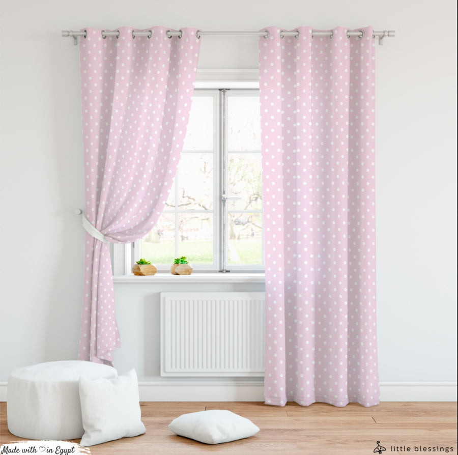 Minnie Mouse Art Curtain (Polka Dots)