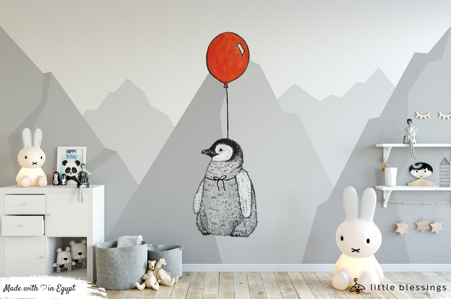 Baby Penguin Room Wallpaper