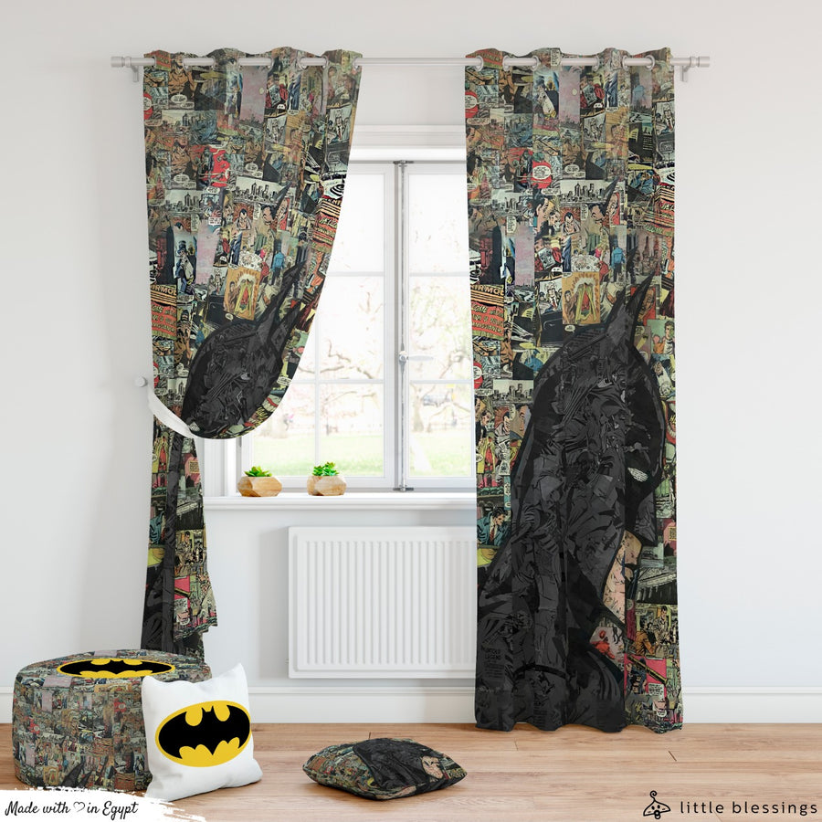 Batman Comic Books Curtain