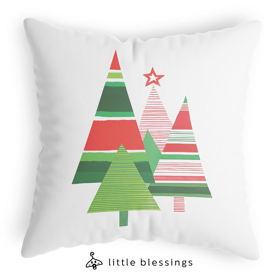 Geometric Christmas Tree Cushion
