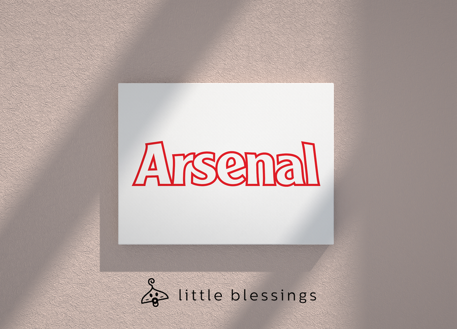 Arsenal Canvas (Word Logo)