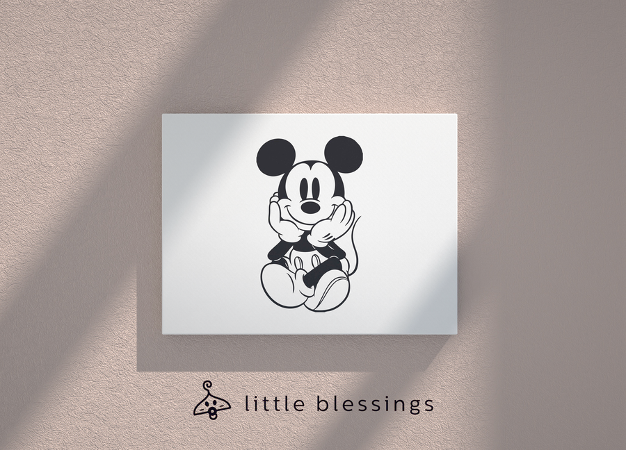 Mickey Pop Art Canvas (Black Mickey)