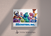 Monsters Inc Canvas (Monsters University White)