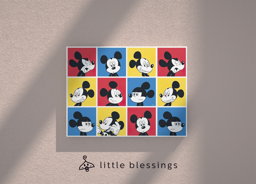 Mickey Pop Art Canvas (Colourful Mickey)