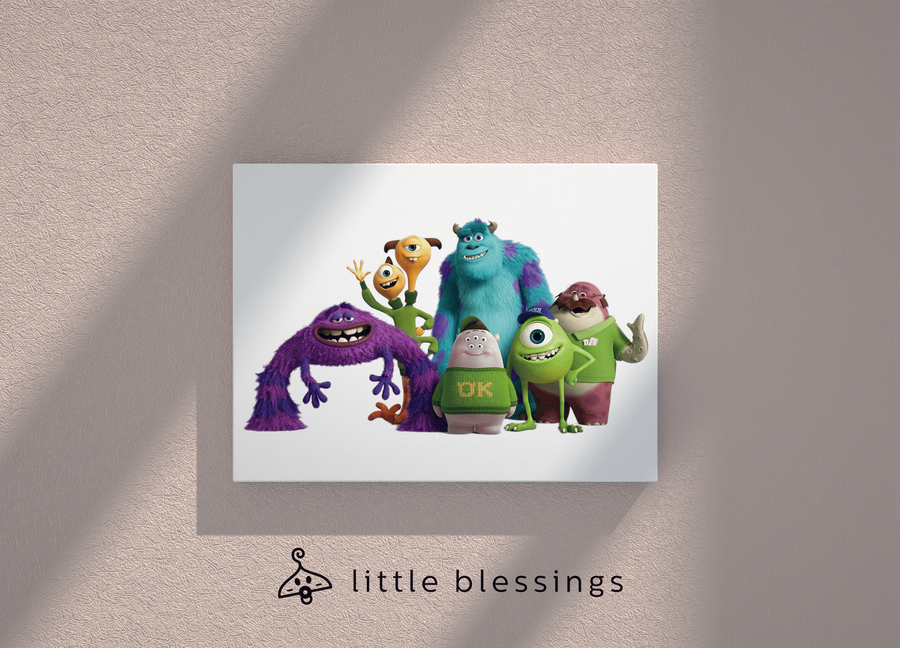 Monsters Inc Canvas (We're OK!)