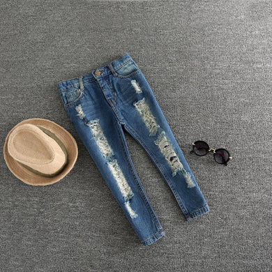 Jeans with Holes, 2-7Y Kids Trousers