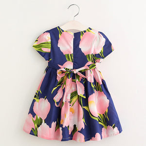 Little Blessings Summer Style Dress - Princess Dresses with Flower Pring Design!