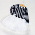 Long Sleeve Striped Top and Tutu