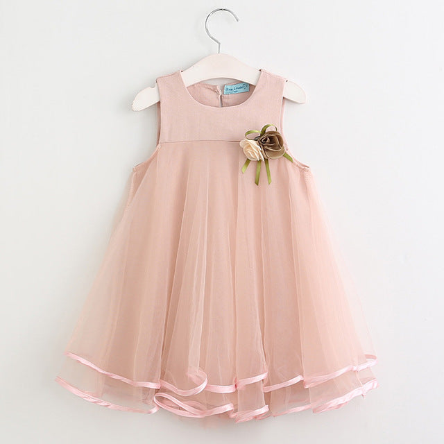 Elegant Simple Girls Dress