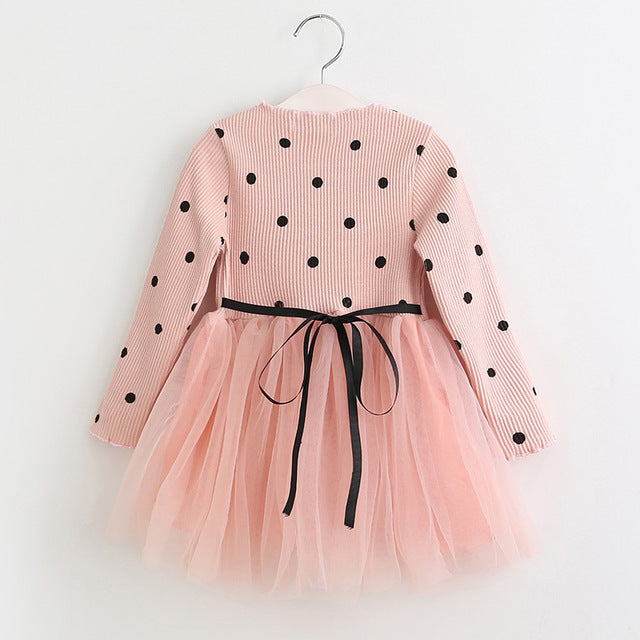 Princess Dress, Ball Gown Dot Print Kids!