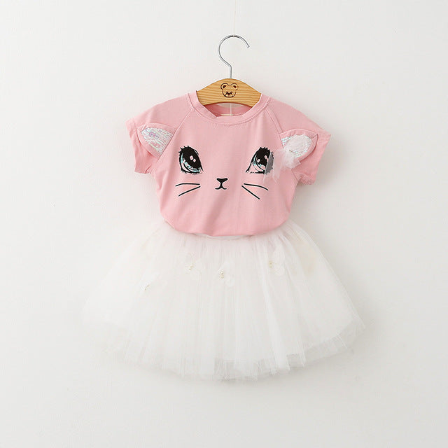 Cute Cat Dress for Girls