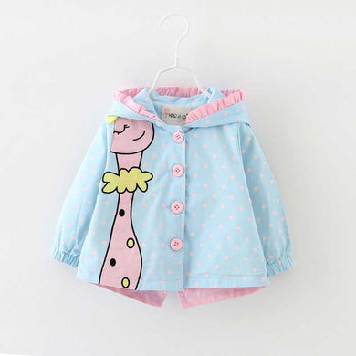 Hooded Cartoon Dots Jacket