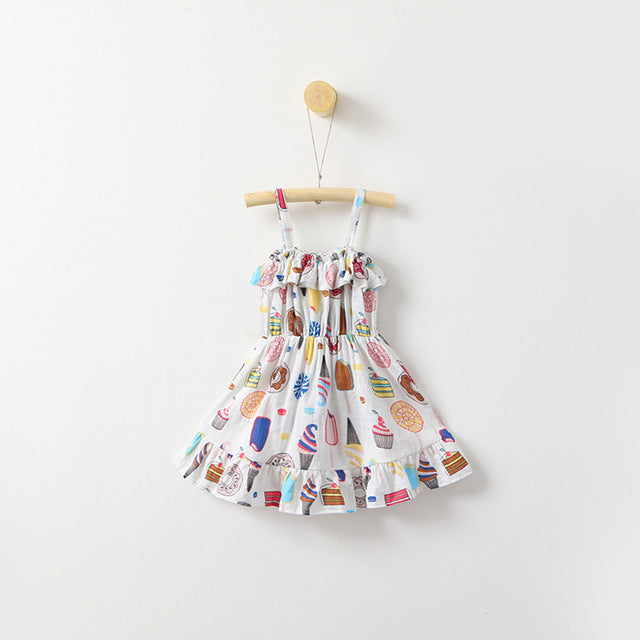 New Summer Children Clothing Icecreams Print