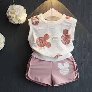 Mickey Design Sets Summer Kids Clothing Sets