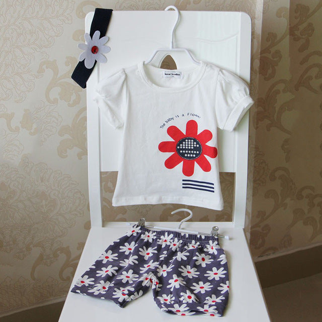 New CUTE Set for Babies! 3 Pieces (Hat T-Shirt Pants)
