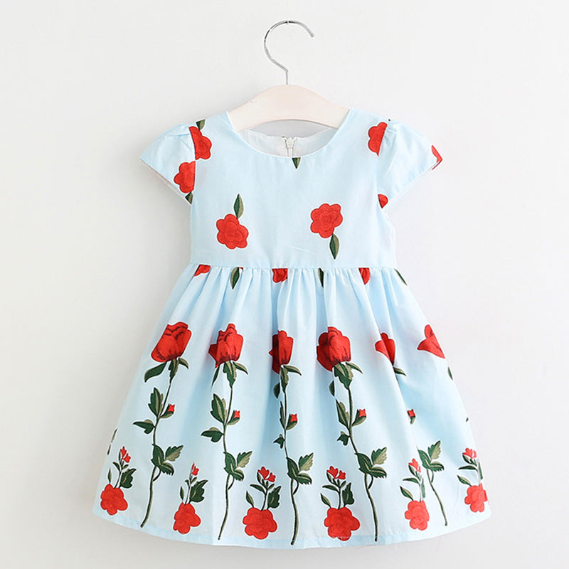 Floral Girls Dress for Spring & Summer