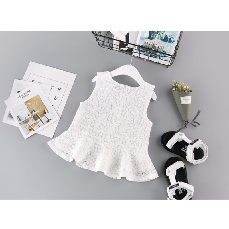 Sleevelesss Lace Hollow out Design (Top+Short 2Pcs)