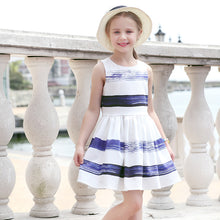 Striped Sleeveless Party Dress for Girls 4-14yrs
