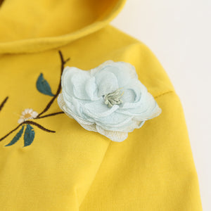 Embroidered Hooded Set