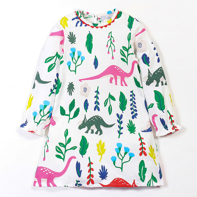 Awesome Sleeveless Dinosaurs Print Dress