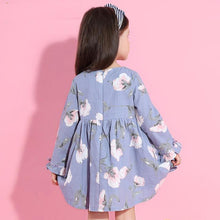 Floral Design Dress with LongSleeve for 3-9 Years