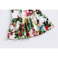 Floral Pattern Princess Dress For 4-14 Years